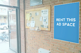 [Image: Indoor ad space in shop]