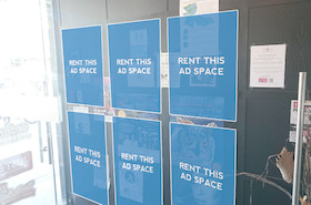 [Image: Indoor ad space in a restaurant]