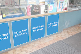 [Image: Indoor ad space in a LLBO]