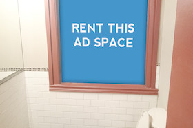 [Image: Indoor Ad Space at a Restaurant]
