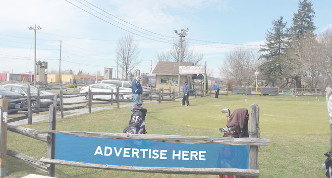 [Image: Outdoor Ad Space at a Fmaily Golf Centre]
